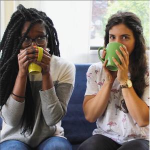 Whitney and Nazanin tea